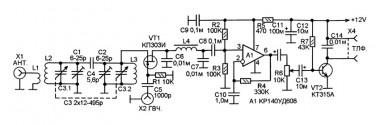 Схема приставки к генератору ВЧ