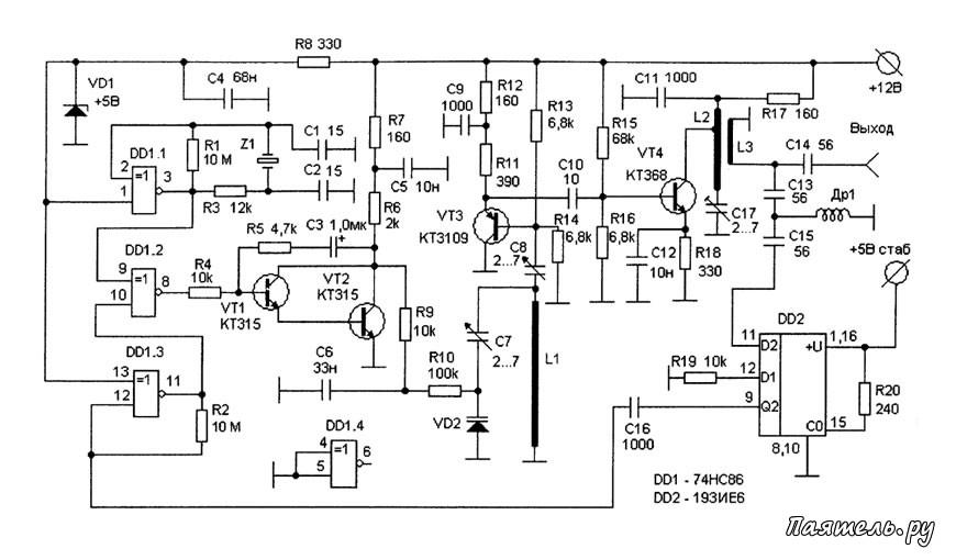 Фазовый детектор выполнен на