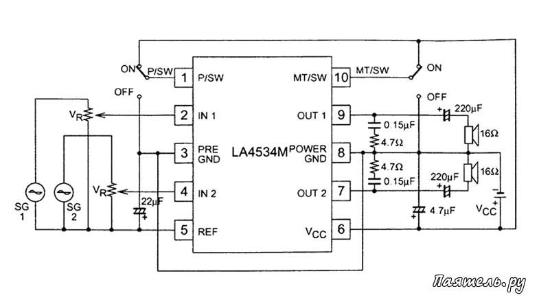 Микросхема LA4534M
