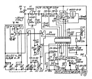 Схема приемника ДВ 160М и СВ 80М