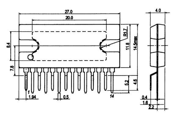 Микросхема LA4663