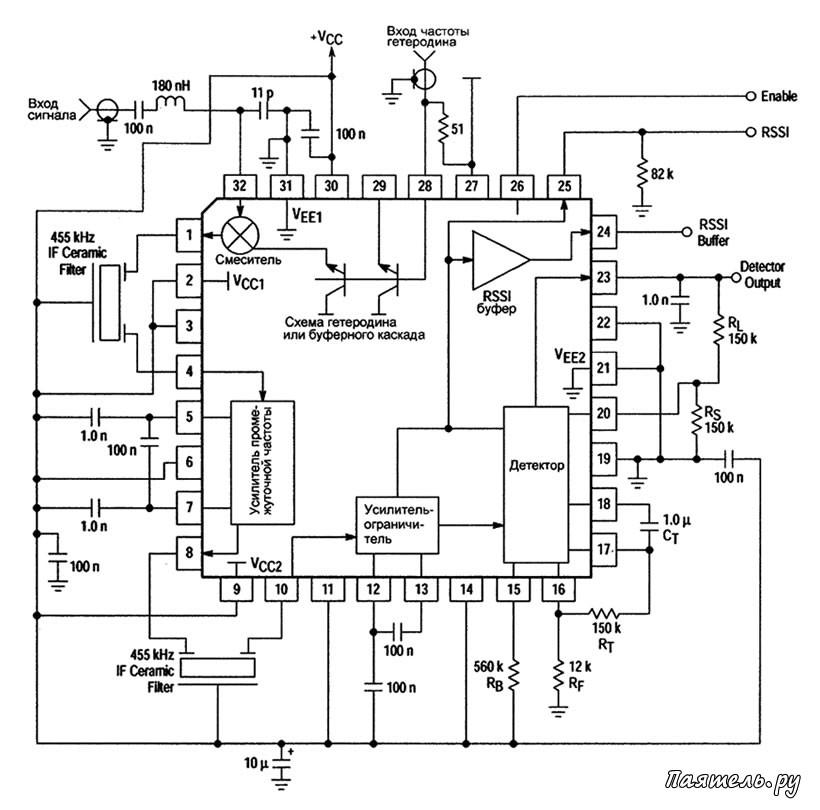 Схема кварцевого гетеродина на